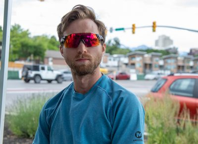 Pete Watson learned about SLUG Cat from a flyer in a coffee shop. He's visiting Salt Lake from Grand Rapids, Michigan, where sub-par roads filled with potholes keep him on his toes. Photo: Kaylynn Gonazlez