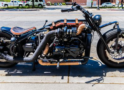 This is what happens when a chopper and a diesel mechanic make one sweet, sweet love child. Brought to you by the fine folks of Head Turner Customs.