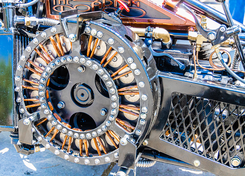 A stunning example of insane craftsmanship at the Junction City Chopper Show.