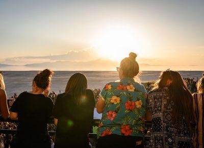 Looking towards the horizon, attendees patiently await headliner Billie Eilish. Photo: Colton Marsala