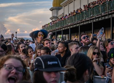 Concertgoers congregate and coexist. Photo: Colton Marsala