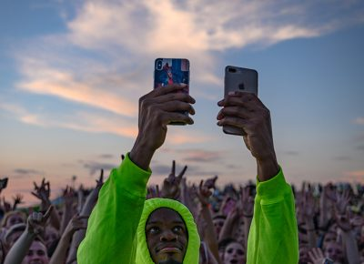 Double fisting a couple cell phones is the only way to properly capture the moment! Photo: Colton Marsala