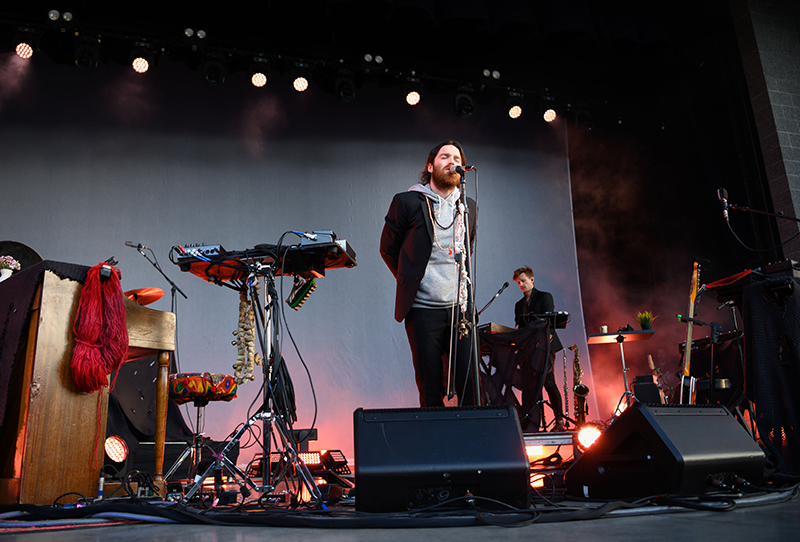 Nick Murphy used a wide range of instruments throughout his Ogden Twilight performance.