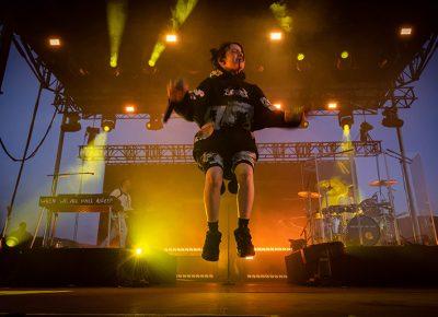 Billie Eilish levitates. Photo: Colton Marsala