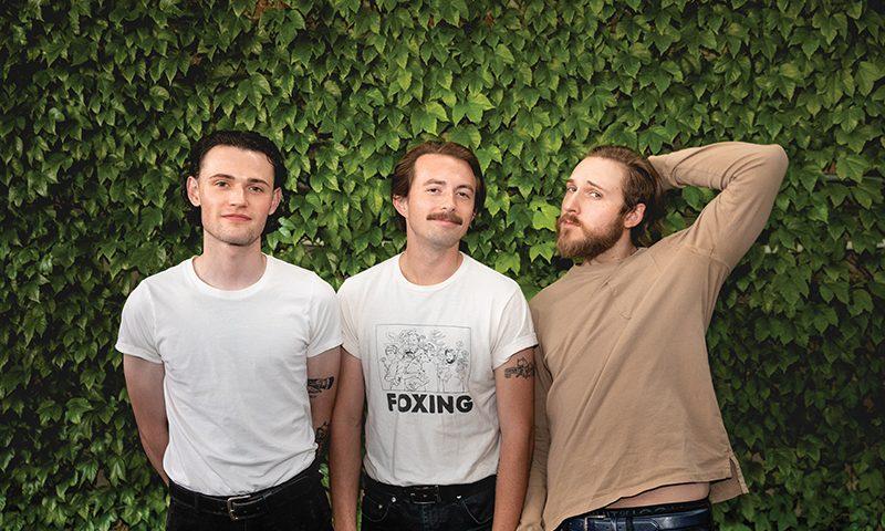 (L–R) Aaron Michael Hendrix, Paul Zuniga and Bennett Geilmann enjoy making noise and sharing noise.