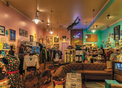 Endless Indulgence's show room is full of a colorful array of retro, vintage-inspired pieces.