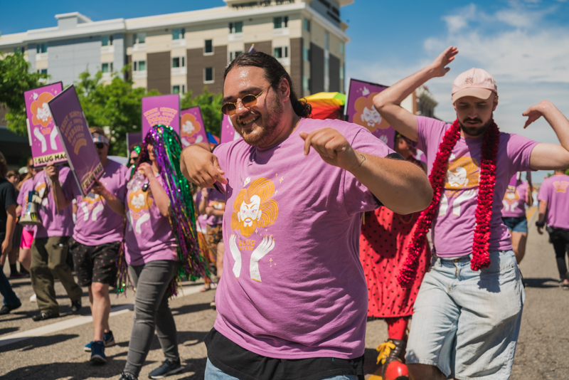 SLC Slay collaborated with SLUG at this year's PRIDE fest to provide parade viewers with a fierce dance show.