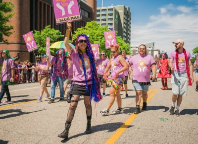 Our fearless leader Angela Brown was thrilled to see the massive turnout to this years Pride festival.