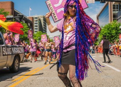 SLUG Editor Angela Brown takes to the runway to show off her badassery.