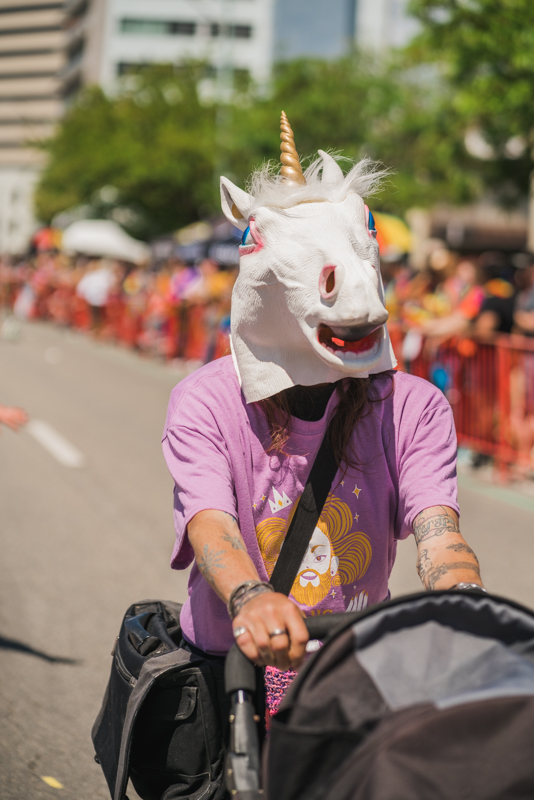 Even unicorns came out to walk alongside the SLUG crew!