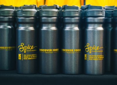 As part of guests' complimentary swag, they received a Spice Kitchen water bottle just in time for the summer sun. Photo: Talyn Sherer