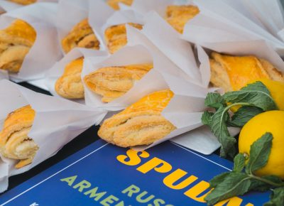 Spudnik, a Russian-Armenian business, dishes up a delicious flaky pastry to kick off the day. Photo: Talyn Sherer