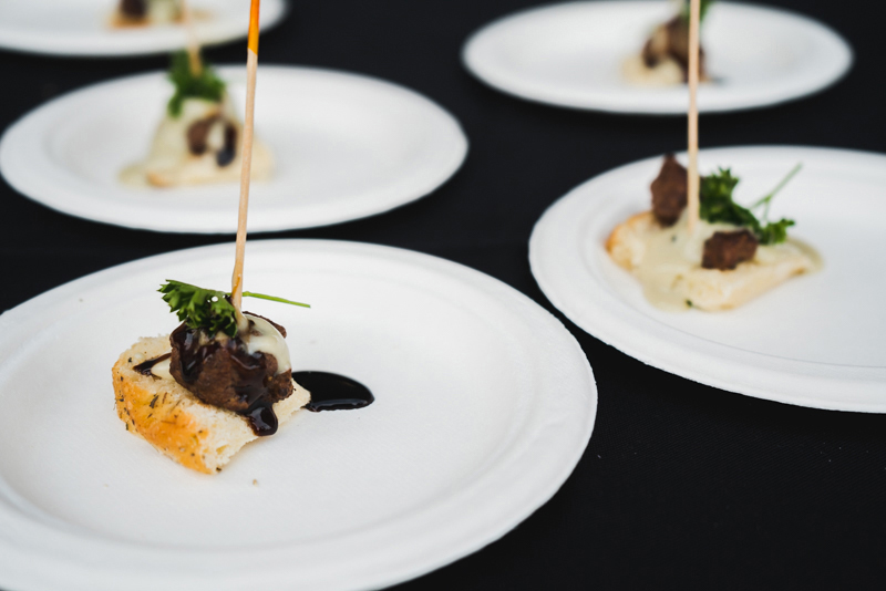 Twigs Bistro gave out one of the best plates of the night with their savory Moroccan beef bites.