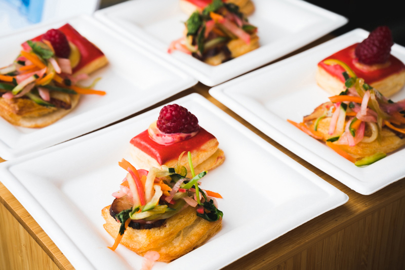 Eva Small Plates didn't pull any punches with their take on a bahn mi and a raspberry éclair.