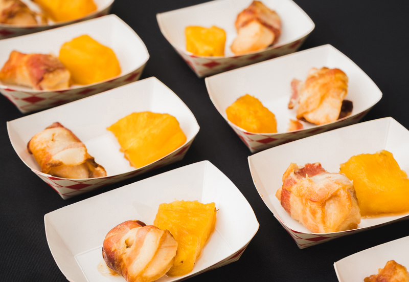 Tucanos had us salivating over their bacon-wrapped chicken and grilled pineapple.