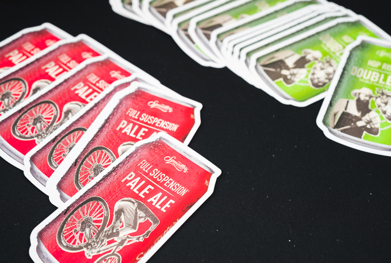 Squatters created some special brew stickers so you can enjoy your beer anywhere, anytime.