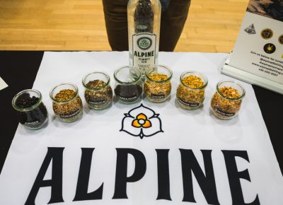 Alpine Summit Gin was a highlight of the night with their subtle juniper flavors.
