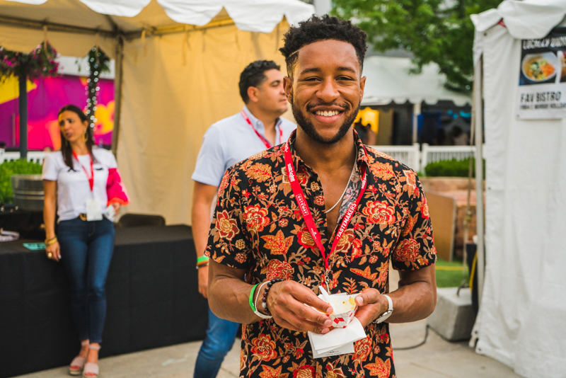 Wayne Sellers came out to Tastemakers for the first time to enjoy the flavors the featival had to offer.