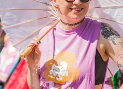 Heather Mahler was the artistic hand who designed this years Pride shirt.