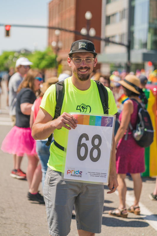 SLUG Events Coordinator John Platt helped guide us throughout downtown SLC in this year's Pride parade.