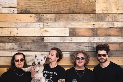 """(L–R) Peter LaBarge, Sir Quincy of the Highland, Paul Zuniga, Benton Wood and Cole Eisenhour come from Ogden to show Utah and beyond their """"damn good pop."""""""
