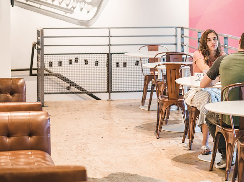 Cuppa strives to create an inviting space that incites creativity and also allows visitors to feel comfortable.