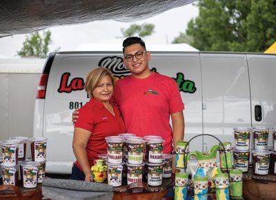 (L–R) Lorena Jimenez and Orlando Cabrera.