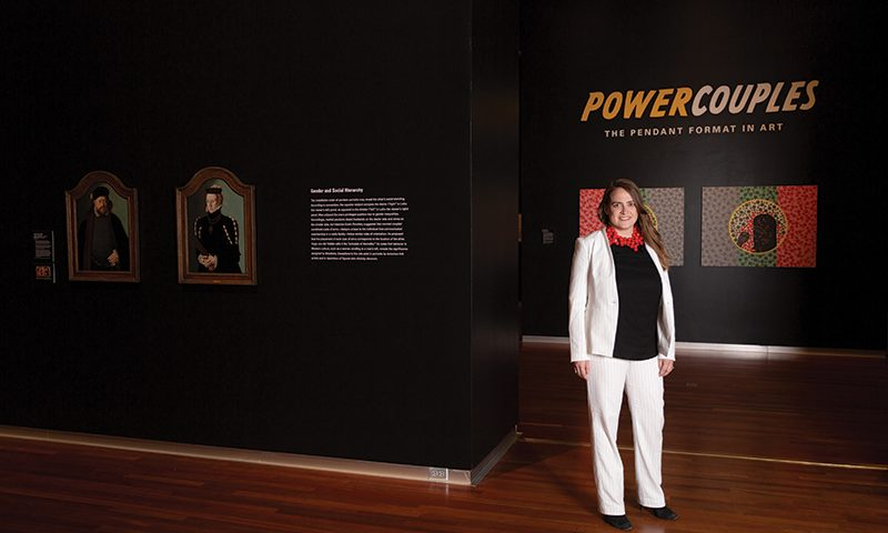 Leslie Anderson spent four years curating and collecting the featured artwork for the Power Couples Exhibit.