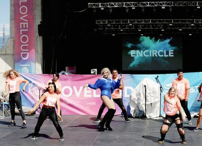 Drag dance numbers take over the middle stage at Loveloud.