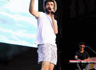 AJR member Jack on stage at Loveloud.