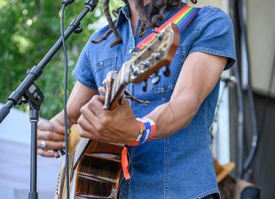 Keyvin Vandyke performing on stage.