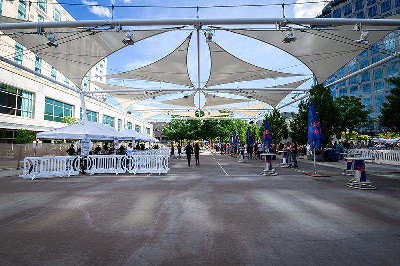 The Gallivan Plaza ready to go.