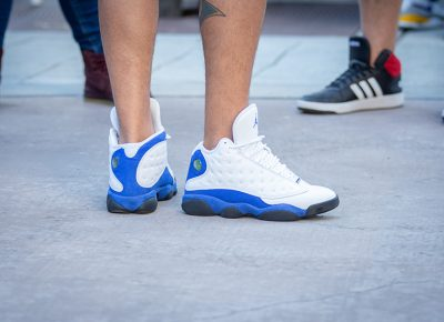 Only concrete and hardwood for these Air Jordan 13's Retro Hyper Royals.