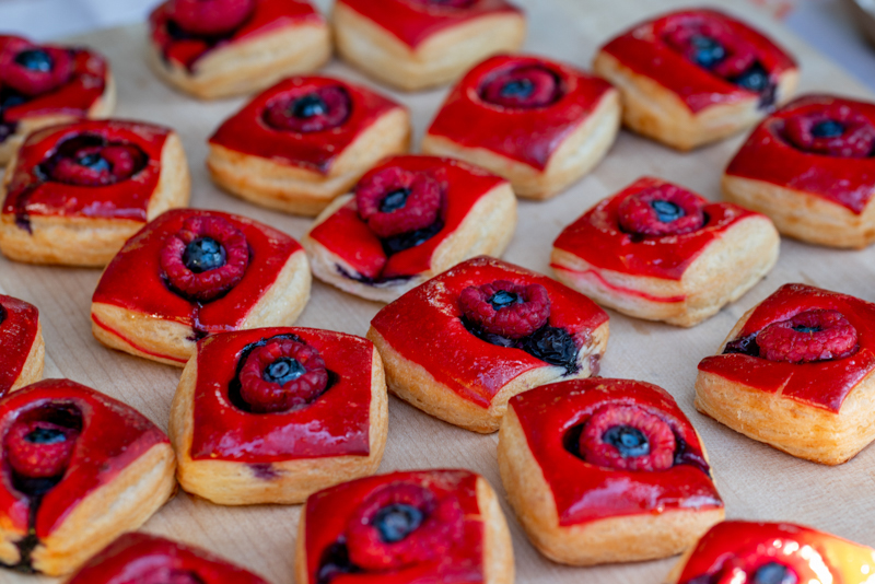 Eva's Bakery was sure to treat us with a fruit pastry that was made special for this event.