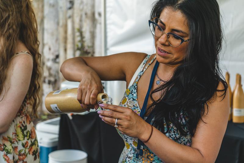 Griselda Garza pours us a generous serving of Bozal Mescal.