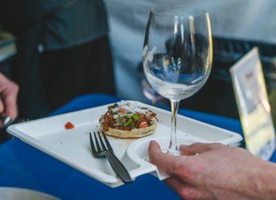 The wine and food plates at Eat Drink SLC made for a perfect travel dish.