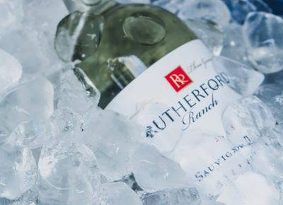 Rutherford Ranch wine gets put on ice while it awaits its next vessel.