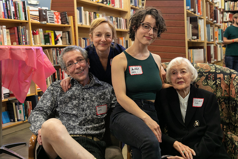 (L–R) The Weller family, Tony, Catherine, Lila Ann and Lila, continue to celebrate books after 90 years and a few name and location changes.