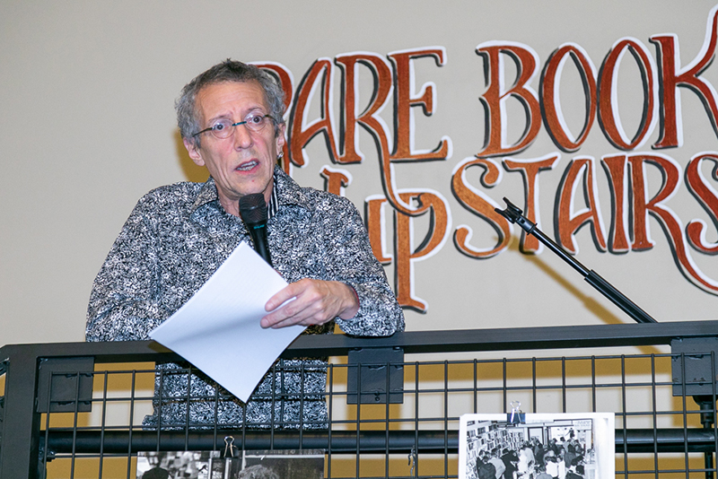 Tony Weller explained the history of the Weller family's literary legacy in Salt Lake City.