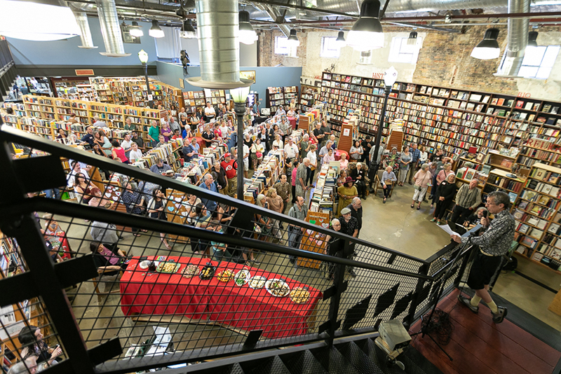 Dozens of past and present employees, as well as dedicated book lovers, gathered on Aug. 17, 2019 to celebrate the 90th anniversary of Weller Book Works.