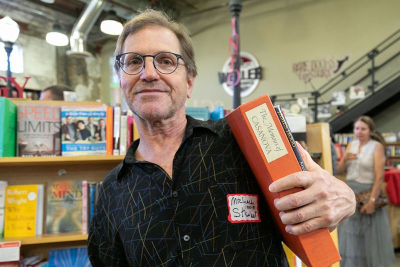 Former Weller Book Works employee Michael Stewart picked up a used copy of The Memoirs of Cassanova. He worked in the bookstore from 1980–81.