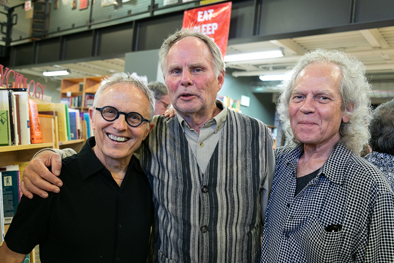 (L–R) Phillip Bimstein, Brooke Williams and Steve Williams have been fans of Weller Book Works for decades. Brooke Williams met his wife, Terry Tempest Williams, at Sam Weller's Books where she worked as a bookseller.