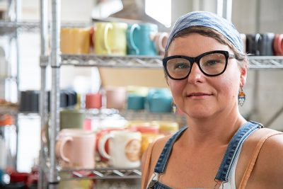 Jessica Thesing of Mean Mugs Pottery