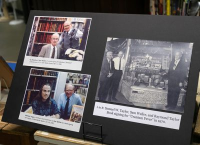 In celebrations of 90 years, Weller Book Works featured displays of bookstore history scattered throughout the aisles.