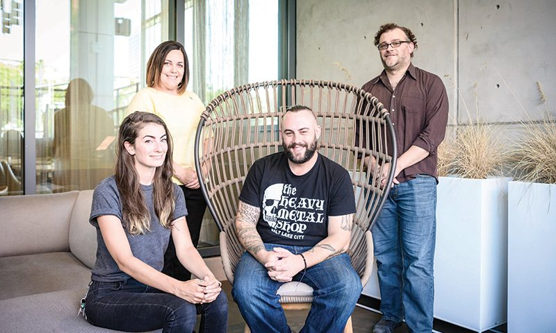 (L–R) Erin McAllester, Tracy Gomez, William Bradshaw and Matthew Pfohl.