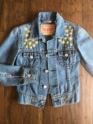 An embroidered jacket by Jennifer Riggs