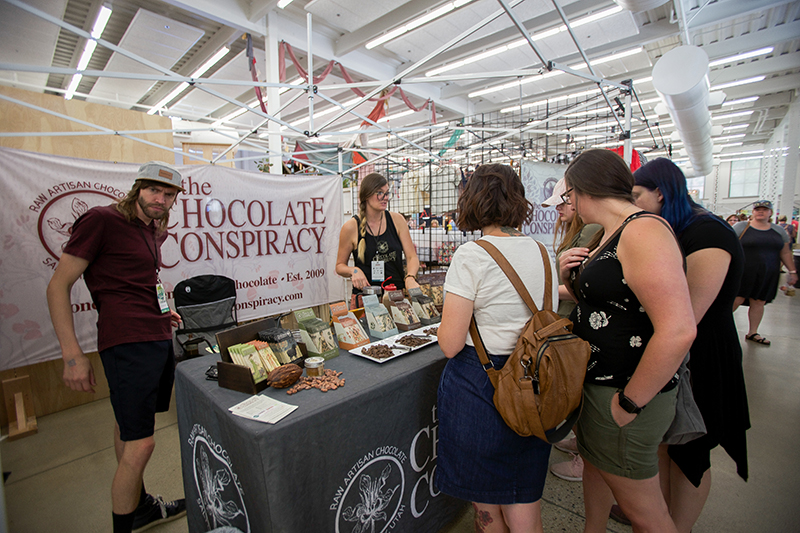 The Chocolate Conspiracy booth was always crowded for good reason.