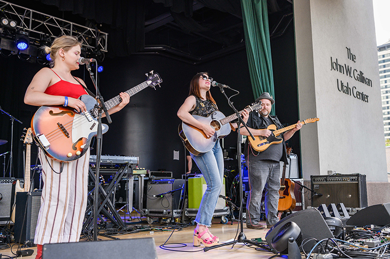 Local supporting artists The Hollering Pines perform at Thursday evening's edition of the Twilight Concert Series.