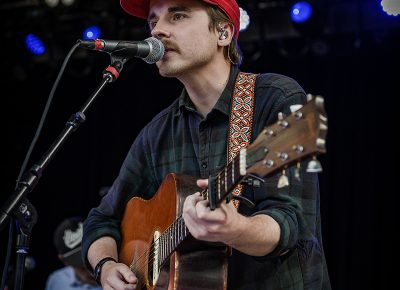 """Foxwarren frontman Andy Shauf strums his acoustic guitar as he sings """"Lost on You,"""" a track from their self-titled album."""