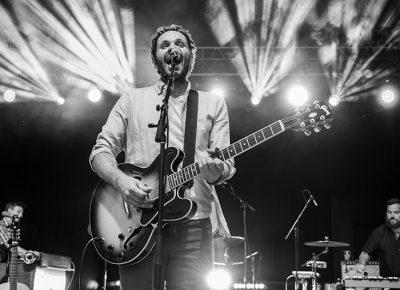 With lights cutting through the smoke, Blind Pilot rocks and rages for those in attendance at Thursday night's edition of the Twilight Concert Series.